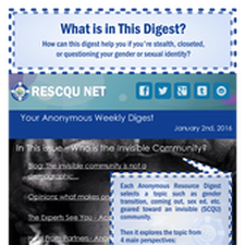 Picture: sign up for our anonymous weekly digest!